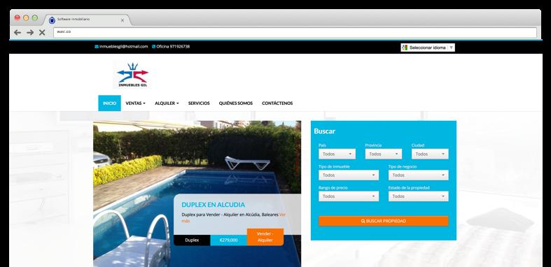 P gina web para inmobiliarias f cil de usar wasi for Paginas inmobiliarias