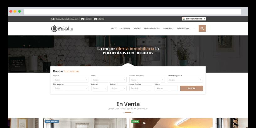 P gina web para inmobiliarias f cil de usar for Paginas para disenar casas